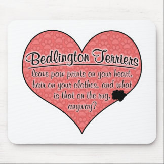 Bedlington Terrier Paw Prints Dog Humor Mouse Pad