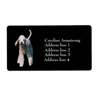 Bedlington Terrier personalized address labels