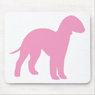 Bedlington Terrier (pink) Mouse Pad