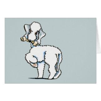 Bedlington Terrier Rosie Greeting Card