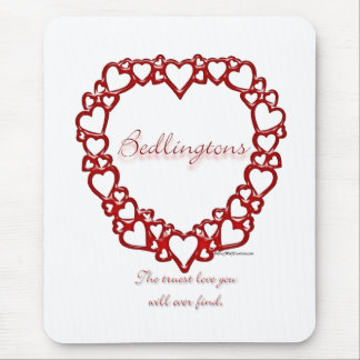 Bedlington Terrier True Love Mouse Pad