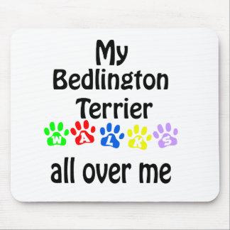 Bedlington Terrier Walks Design Mouse Pad