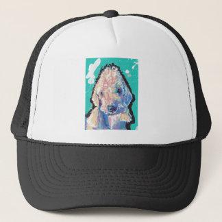 Bedllington Terrier Pop Art Trucker Hat