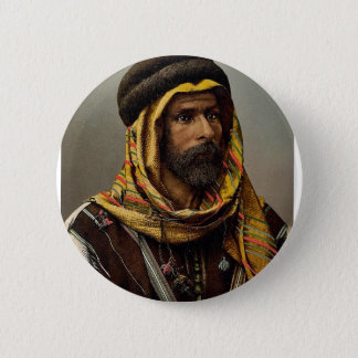 Bedouin Chief of Palmyra, Holy Land (i.e., Tadmur, 6 Cm Round Badge