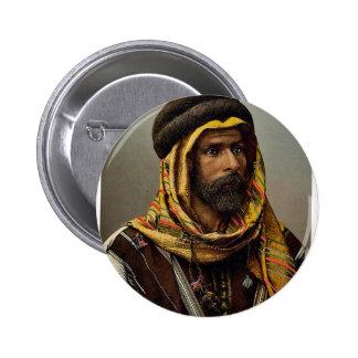 Bedouin Chief of Palmyra, Holy Land (i.e., Tadmur, 6 Cm Round Badge