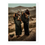 Bedouins and children outside tent, Holy Land rare