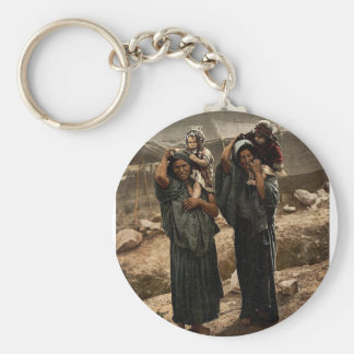 Bedouins and children outside tent, Holy Land rare Key Chains