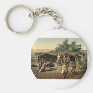 Bedouins and their tents, Holy Land rare Photochro Key Chain