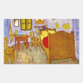 Bedroom at Arles by Vincent Willem van Gogh Rectangular Sticker