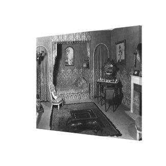 Bedroom belonging to Jeanne Lanvin  c.1920-25 Canvas Print