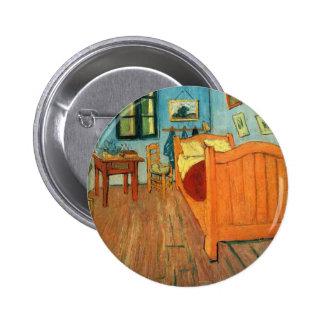 Bedroom in Arles by Vincent Van Gogh 6 Cm Round Badge