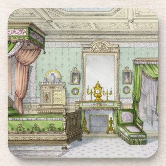 Bedroom in the Renaissance style (colour litho) Beverage Coaster