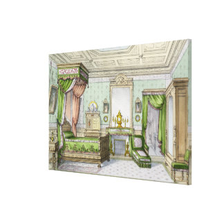 Bedroom in the Renaissance style colour litho Stretched Canvas Prints