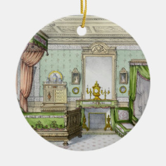 Bedroom in the Renaissance style (colour litho) Christmas Ornament