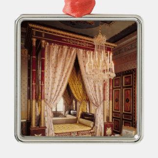 Bedroom of Queen Hortense de Beauharnais Silver-Colored Square Decoration