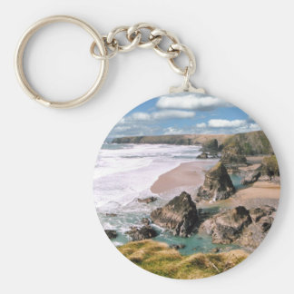 Bedruthan Steps, Cornwall Key Ring