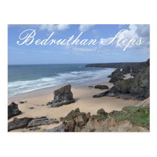 Bedruthan Steps Postcard