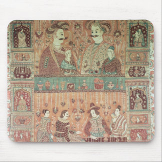 Bedspread depicting native potentates mouse mat