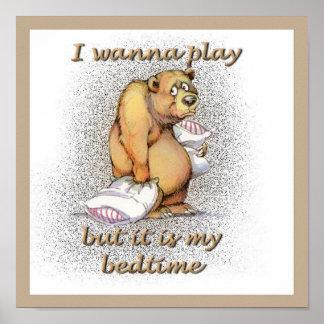 Bedtime Bear Print