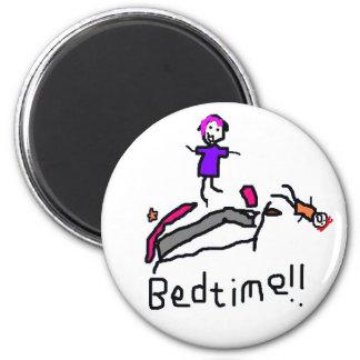 Bedtime! 6 Cm Round Magnet