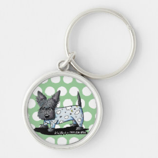 Bedtime PJs Scottie Silver-Colored Round Key Ring