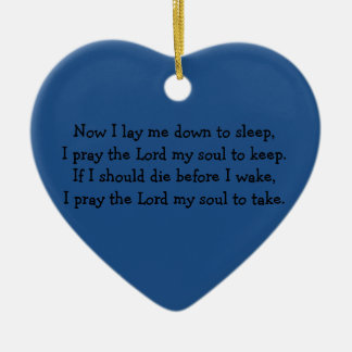 Bedtime Prayer Now I Lay Me Down to Sleep Ceramic Heart Decoration