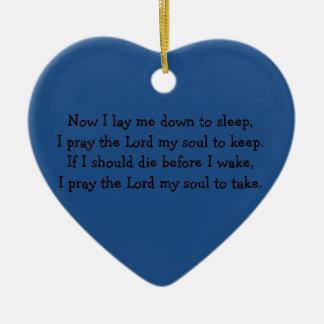Bedtime Prayer Now I Lay Me Down to Sleep Christmas Ornament