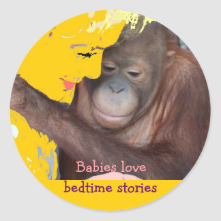 Bedtime Stories for Baby Classic Round Sticker