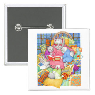 """Bedtime Story 2"""" Square Button"""