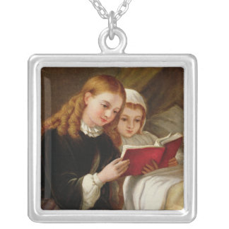 Bedtime Story Silver Plated Necklace
