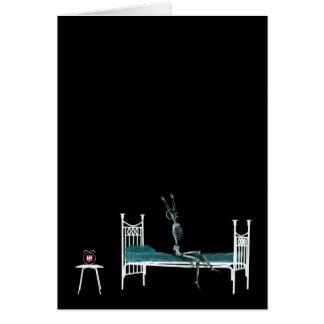 Bedtime X-Ray Skeleton Original Greeting Card