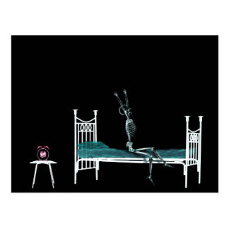 Bedtime X-Ray Skeleton Original Postcard