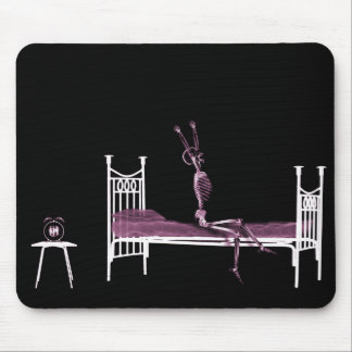 Bedtime X-Ray Skeleton Pink Mouse Mat