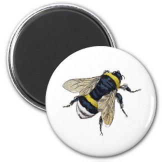 Bee 6 Cm Round Magnet