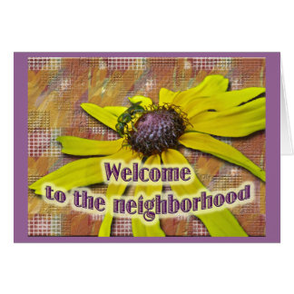Bee and Black Eyed Susan Welcome Neighbor Greeting Card