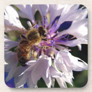 Bee and Blue Flower Coasters