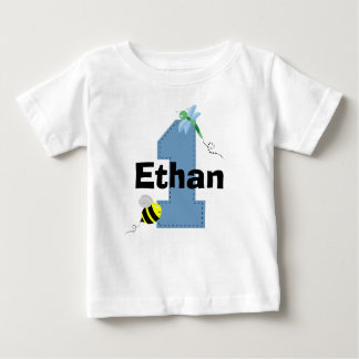 Bee and Dragonfly First Birthday Shirt