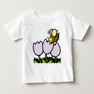 Bee and flowers baby T-Shirt