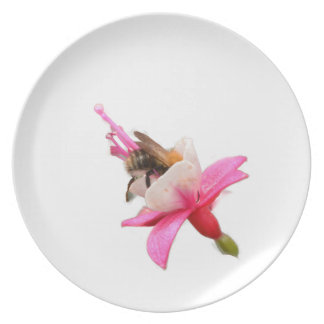 Bee and Fuchsia Party Plate