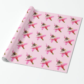 Bee and Fuchsia Wrapping Paper