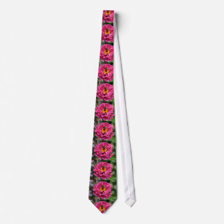 Bee and pink flower tie