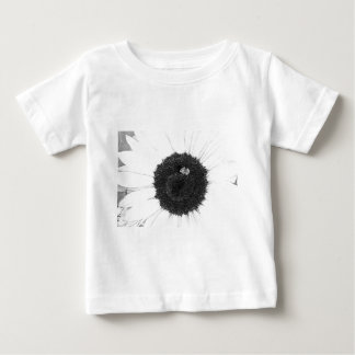 Bee and Sunflower Pencil Sketch Baby T-Shirt