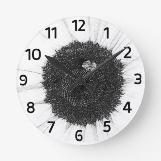 Bee and Sunflower Pencil Sketch Clock (Numerals)