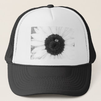 Bee and Sunflower Pencil Sketch Trucker Hat