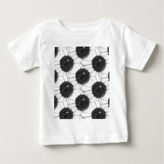 Bee and Sunflower Sketch Design Baby T-Shirt