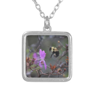 Bee and Wildflower Pendant