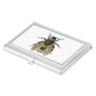 Bee antique illustration business card holder