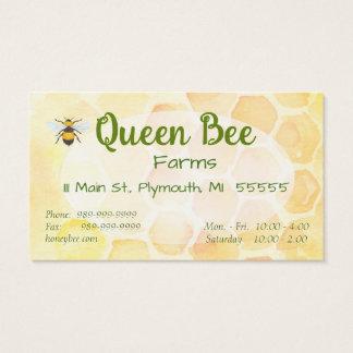 Bee Apiary Honey Jar Business Cards