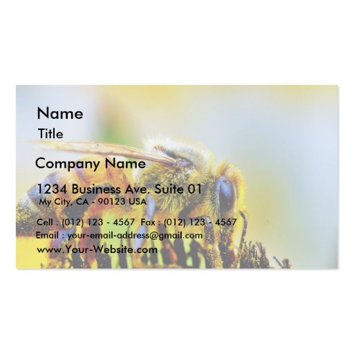 Bee At The Del Mar Fairgrounds Business Card Template