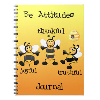 Bee Attitudes Journal Spiral Notebooks
